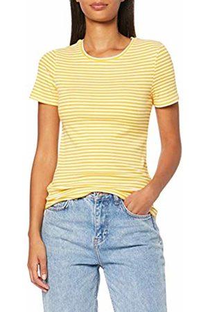 Pieces NOS Women's PCLANA SS TOP T - Shirt Mehrfarbig (Bright Stripes: Lemon Chrome) 10 (Size: S)