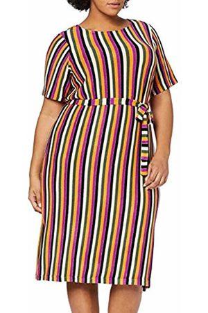 JUNAROSE Women's Jrhafrun Ss Below Knee Dress - S ( Wine Multi Color)