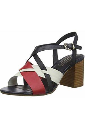 c91568b42 Tommy Hilfiger Women s Interwoven Pattern Mid Heel Platform Sandals