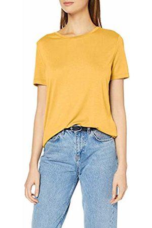 Pieces NOS Women's PCLUCY SS TOP T-Shirt, Gelb Lemon Chrome