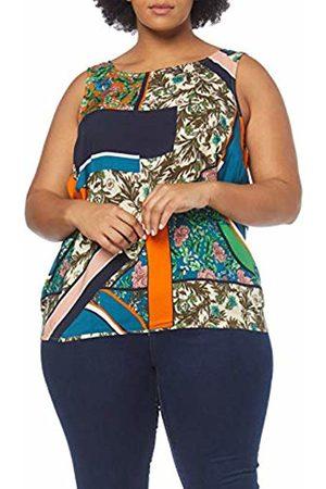 JUNAROSE Women's Jrfrias S/l Blouse - K Vest, (Sand Dollar AOP)