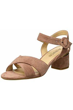 JB Martin Women's Mabel Ankle Strap Sandals (Chevre Velours Blush)