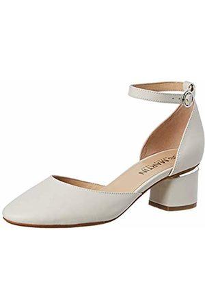 JB Martin Women's Tarah Closed Toe Sandals, (Metis Nappa Naturel)