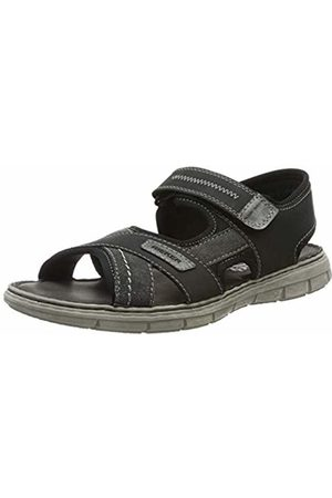Rieker Men's 25153-47 Closed Toe Sandals, (Anthrazit Asphalt/Schwarz 47)