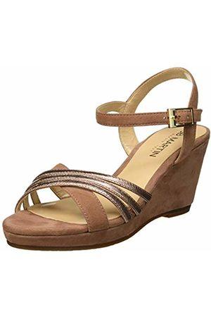 JB Martin Women's Quoliday E19 Sandals, Velours/Ch Metal Blush