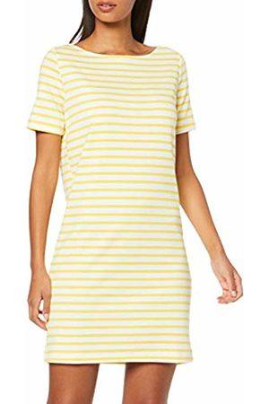 Pieces NOS Women's PCINGRID SS Dress NOOS Mehrfarbig (Bright Stripes: Lemon Chrome)