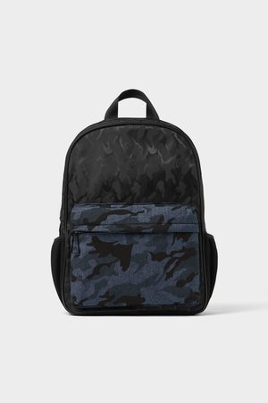 Zara Black camouflage print backpack