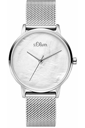 s.Oliver Womens Analogue Quartz Watch with Stainless Steel Strap SO-3740-MQ