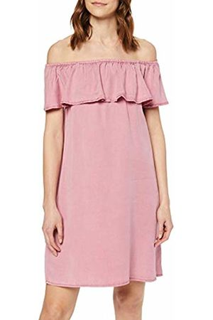 Vero Moda Women's VMMIA Tencel Flounce Summer Dress GA Rosa Foxglove