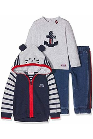Brums Baby Outfit Sets - Baby Boys Completo 3 Pezzi Con Pantaloni in Felpa Indigo Clothing Set