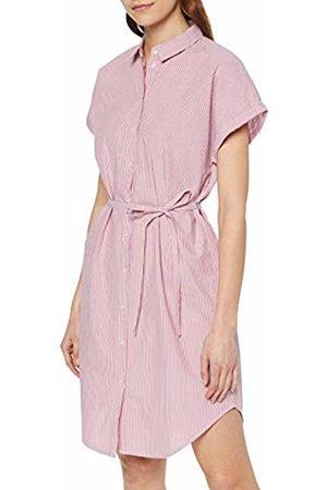 Vero Moda Women's Vmjane Sl Abk Shirt Dress WVN Ki (Snow Stripes: Fox Glove)