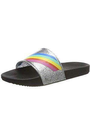 Zaxy Women's Snap Slide Fem Mules ( Rainbow 9109) 3 UK