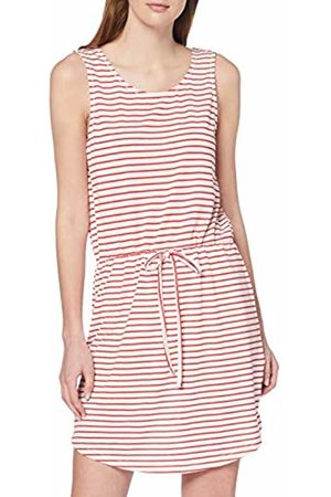 Pieces Women's Pcbatista Sl Dress Beach (Cloud Dancer Stripes: High Risk )