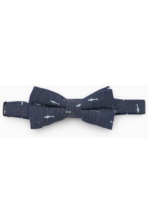Zara Printed denim bow tie