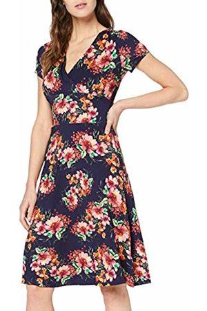 Joe Browns Women's Floral Wrap Jersey Dress (Navy Multi (Size:UK 10)