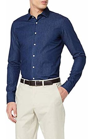 Seidensticker Men's Extra Slim Langarm Mit Kent Kragen Denim Soft Uni Smart Business Shirt