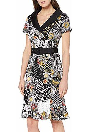 Joe Browns Women's Animal Style Print Vintage Collar Dress (Multi (Size:UK 14)