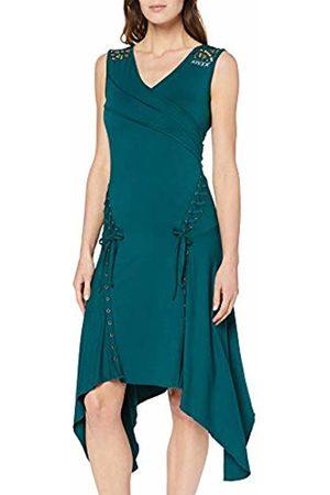 Joe Browns Women's Quirky Lace Trim Asymmetric Hem Dress (Emerald A)