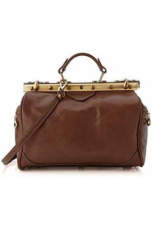 Chicca Tuttoa Women's CBC182000GF22 Top-Handle Bag Brown Marrone (Testa Di Moro)