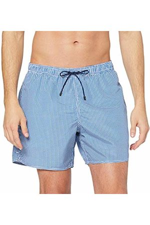 Emporio Armani Underwear Men's 9P441 Trunks (Bianco/Blu Nautica 58510) Medium (Manufacturer size: 50)