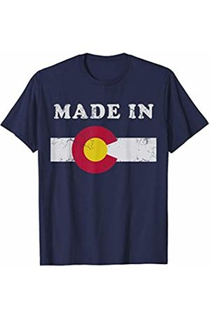 Tee Styley Made In Colorado T Shirt Retro Flag Gift T-Shirt
