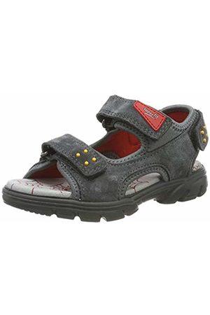 Superfit Boys' Scorpius Ankle Strap Sandals (Grau/Rot 20) 11.5 UK Child