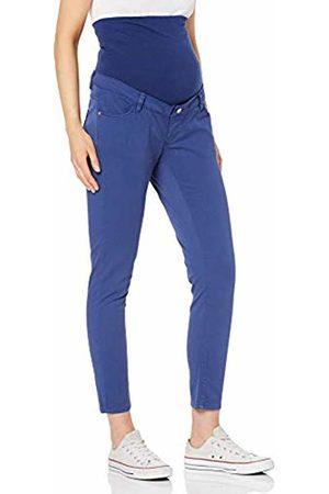 Esprit Women's Pants OTB Slim 7/8 Maternity Trousers, (Dark )