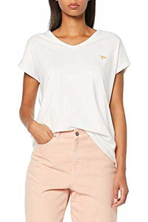 Vero Moda Women T-shirts - Women's Vmclia S/s Wide Top Box JRS T-Shirt, (Snow Detail: Solid)