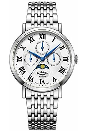 Rotary Mens Analogue Classic Quartz Watch with Stainless Steel Strap GB05325/01