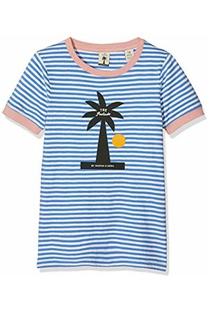 Scotch&Soda R´Belle Girl's Regular Fit Short Sleeve Tee with Bold Summer Artworks Sports Tank Top