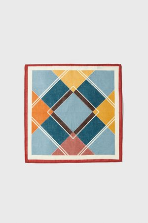 Zara Geometric print pocket square