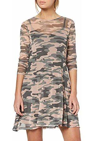 New Look Women's Tani Camo Mesh Party Dress