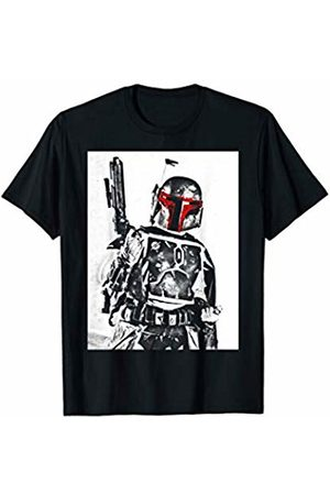 STAR WARS Boba Fett Weapon Drawn Portrait T-Shirt