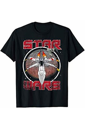 STAR WARS Vintage X-Wing Fighter Circle Logo T-Shirt