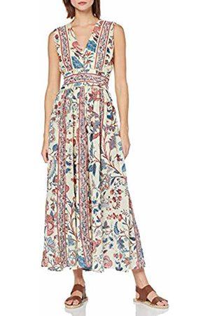 Derhy Womens P910009 V-Neck Sleeveless Party Dress - Off- - 14