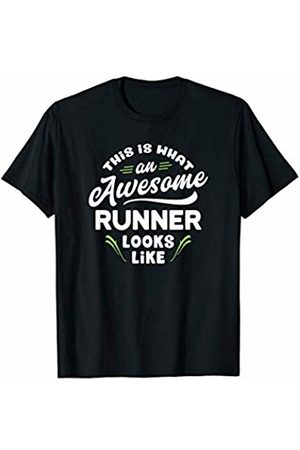 Funny Running Gift Tee Shirts Clothing & Apparel This Is What An Awesome Runner Looks Like Funny Gift Shirt