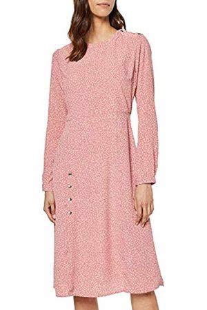 Lost Ink Women Dresses - Women's Split Front Column Dress in SPOT 0059