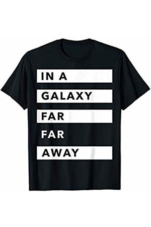 STAR WARS A Galaxy Far Far Away Striped Text T-Shirt