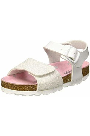 MTNG Girls' 47124 Ankle Strap Sandals (Brillante M Vernice Blanco C45528)