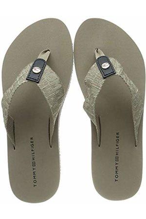 Tommy Hilfiger Women's Flat Beach Sandal Shiny Jacquard Flip Flops 4 UK