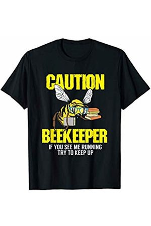 Funny Bee, Hornet & Wasp Warning Shirts & Gifts Beekeeping Shirt: Caution - Beekeeper If you see me running