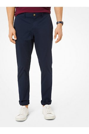 Michael Kors Slim-Fit Washed Poplin Chinos