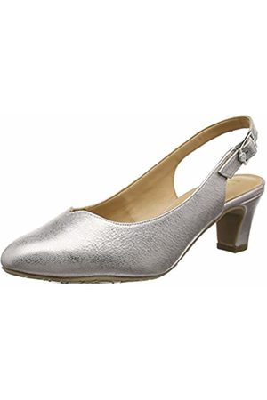 Van Dal Women Winton Sling Back Heels, Silver (Bamboo Metallic)