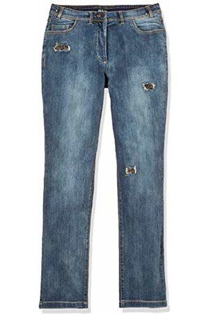 Ulla Popken Women's Plus Size Beaded Inset Destroy Effect Stretch Jeans Denim 26 717312 92-52
