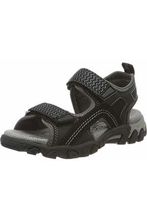Superfit Boys' Hike Ankle Strap Sandals (Schwarz 00) 6.5 UK