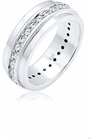 Elli Women Classic Swarovski Crystals 925 Sterling Ring - Size M 0603890217_52