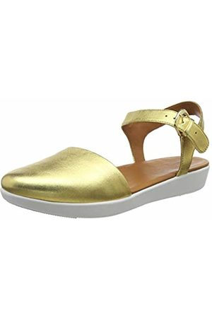 FitFlop Women's Mixed Buckle CARA Quarter Strap Closed Toe Sandals, (Artisan 667)