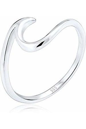 Elli Women's 925 Sterling Waves Wave Beach Maritime Statement Blogger Trend Modern Ring