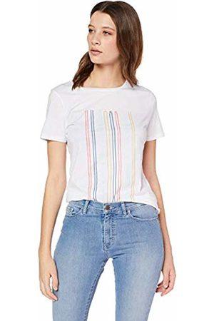 HUGO BOSS Women's Teblurred T-Shirt, ( 100)