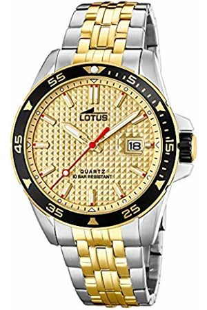 Lotus Mens Analogue Quartz Watch with Stainless Steel Strap 18652/1